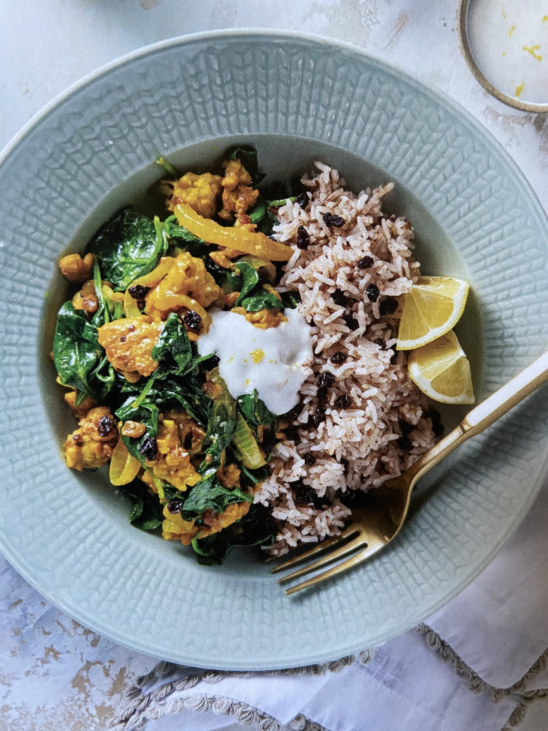 Coconut Spinach Tempeh